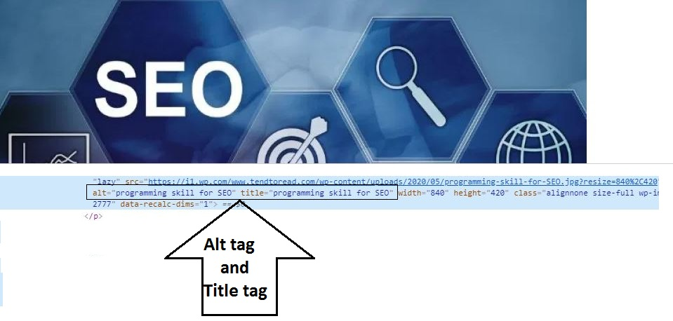 Alt-tag-title-tags in images